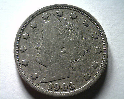 1903 Liberty Nickel Fine F Nice Original Coin From Bobs Coins Fast Shipment