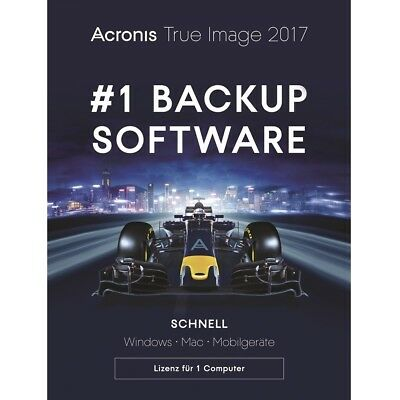 Acronis True Image 2017 1-PC Dauerlizenz / Datensicherung / HDD-Copy / KEY