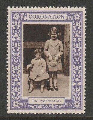 1937 Uk King George Vi Coronation Stamp – The Two Princesses - Mint