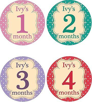 Personalised Monthly Baby Stickers, Milestone Stickers, Baby Shower Gift_G020