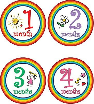 Personalised Monthly Baby Stickers, Milestone Stickers, Baby Shower Gift_G024