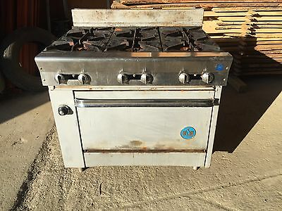 "US Range 36"" 6 Burner Natural Gas Range"