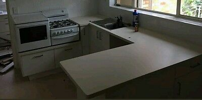 kitchen cupboards and stove