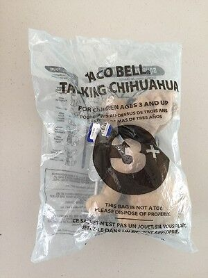 "Vintage TACO BELL Talking Chihuahua ""Chances Are..."" (song) SEALED 6"""