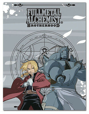 *NEW* Fullmetal Alchemist Brotherhood: Ed & Al Throw Blanket by GE Animation