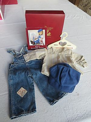 American Girl Kit Summer Story Hobo Overalls Outfit  Brand New In Box Complete