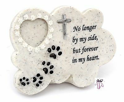 Pet Memorial Plaque with Photo Holder Cat or Dog Pet Lover Keepsake poly resin