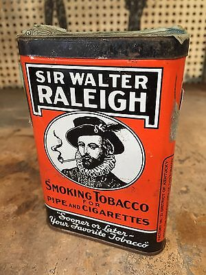 Pipe and Cigarette Tobacco Tin- Sir Walter Raleigh