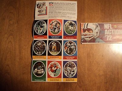 1972 Sunoco NFL Stamp Sticker Lot - 9 Different Excellent Condition #3