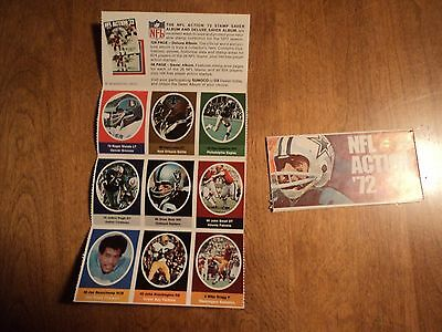 1972 Sunoco NFL Stamp Sticker Lot - 9 Different Excellent Condition #4