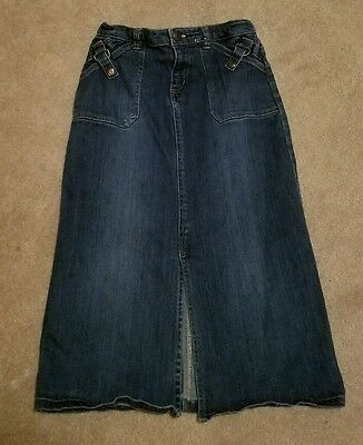 Girls Old Navy Long Denim Jean Skirt Size 8 EXCELLENT Condition!