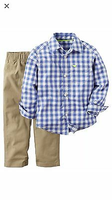 NWT Baby boy clothes, 18 months, Carter's 2-piece Set plaid shirt/matching pant