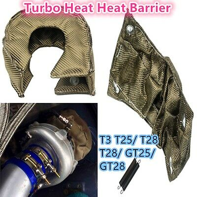 T3 T28 GT25 Titanium Turbo Blanket Heat Shield Barrier Turbo charger Cover Wrap