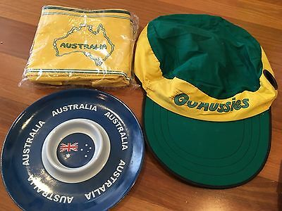Australia Day BIG HEAD Steering Wheel Cap Cover SERVING PLATE TRAY Cooler Bag
