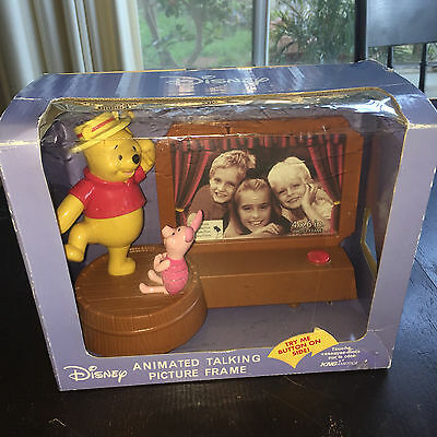 Disney Winnie The Pooh & Piglet Musical Frame Animated Talking Picture Frame New