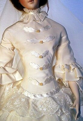 """FOR 24"""" Lady Marion Doll 1850's Grandmothers Wedding Dress Sewing Pattern #36"""