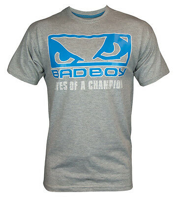 Brand NEW with tags Bad Boy Grey t-shirt top mma fitness gym boxing ideal gift