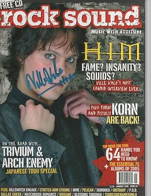 Ville Valo Signed Back Issue Rock Sound 2006 Issue 80