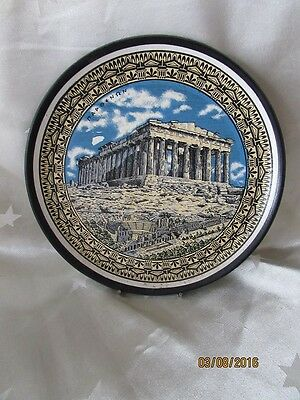 Vintage Handpainted Pottery Wall Plate, made Greece