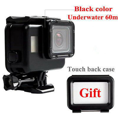 60M Waterproof Housing Case + Touch Screen Backdoor Cover For Gopro Hero 5 Black