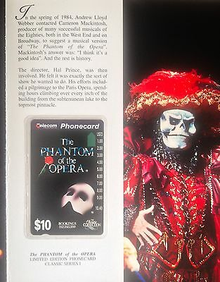 The Phantom of the Opera Phone-card Pack - Rare Limited Edition