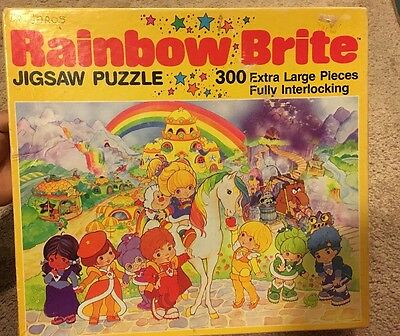 Vtg. Rainbow Brite & friends 300 piece jigsaw puzzle w/original Box