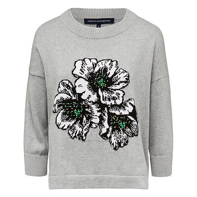 New - French Connection Floral Printed Jumper Sweater - Sz XS
