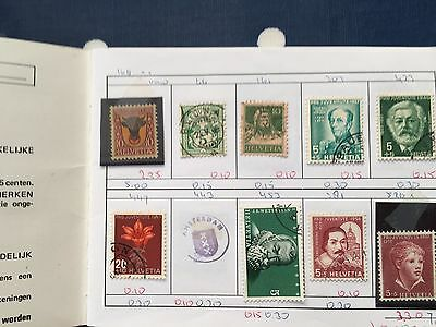 approval club booklet with good mint and used stamps of Switzerland