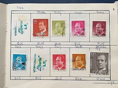 approval club booklet with good used stamps of Spain & Portugal
