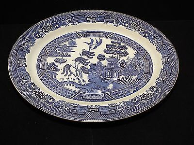 Blue WILLOW pattern 29.5 cm OVAL SERVING PLATE