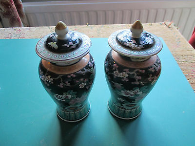 2 old oriental vases .with damage