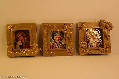 Russian Triptych Church Icon Nikolaus Icon Our Lady The Gate Of Dawn St Virgine