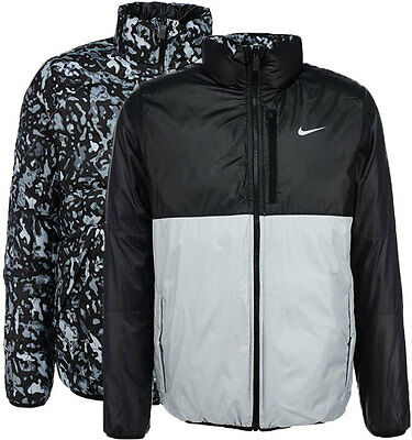 New Nike Men's Alliance Reversible Jacket/winter coat/camo/warm jacket/pockets