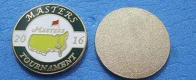 FLAT 1 inch 2016 US MASTERS  Golf ball marker  ..  won by Danny Willets