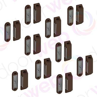 MEDIUM MAGNETIC DOOR CATCH 60mm Heavy Magnet Cupboard Cabinet BROWN 2-10 PACK