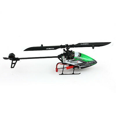 Hisky HCP100S 2.4Ghz 6CH 3-Axis Dual Brushless Flybarless RC Helicopter Green