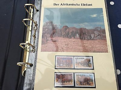 WWF for nature binder with various wild african animals sets on cards & FDC