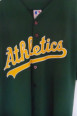 OAKLAND A's BASEBALL JERSEY Green XL MLB OFFICIAL MAJESTIC