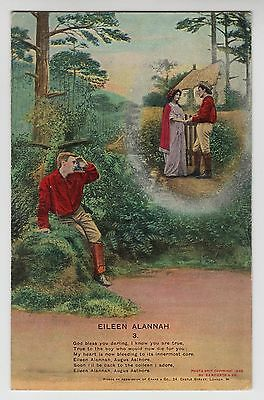 "POSTCARD - Bamforth Song Card ""Eileen Alannah (3)"" romance theme #4508/3"