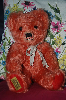 Vintage Antique Old Merrythought Teddy Bear - Limited Edition Coloured Replica