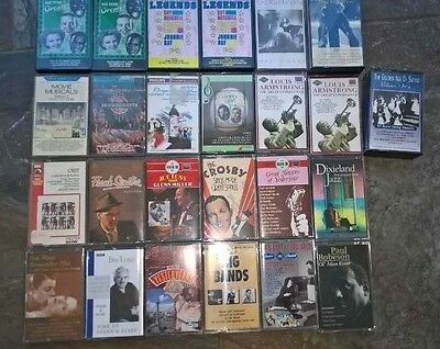 Job Lot 27 Cassettes Jazz Swing Love Songs Armstrong Sinatra Robeson Mixed Lot