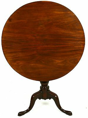 An Exceedingly Rare and Fine Queen Anne Tilt Top Tea Table, Edenton, NC ca 1770