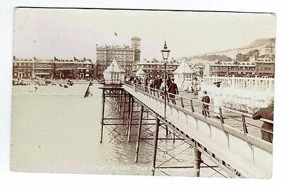 Old Postcard The Promenade Pier Dover Kent Carl Norman's Real Photo C.1905