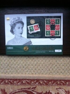 2002 Coin GB First Day Cover - The Queens Golden Jubilee