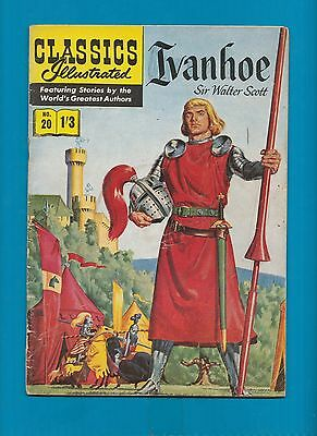 Classics Illustrated Comic Book Ivanhoe by Sir Walter Scott  # 20.   #719