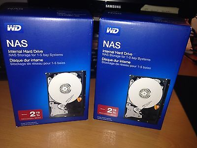 2 Disques durs Western Digital Red pour NAS, 2 HDD X 2To 3,5""