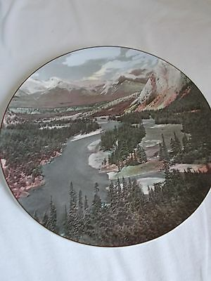 Vintage Royal Doulton plate Bow Valley Banff National Park collectors