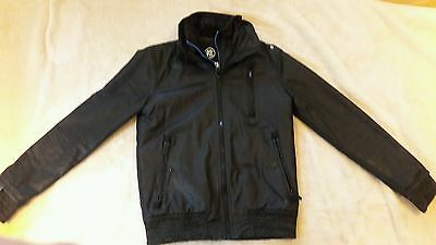 superdry mens jacket, size small, black and blue