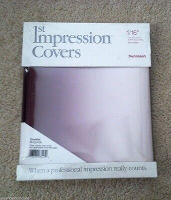 Avery Dennison 1st Impression Desktop Thermal Binding Supply Covers Set of 20