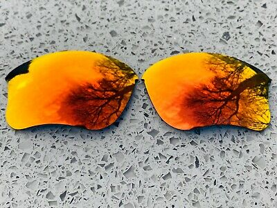 Polarized Fire Red Mirrored Replacement Oakley Flak Jacket Xlj  Lenses